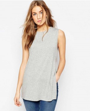 The Sleeveless Longline Top With Side Split