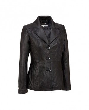 Three Button Wholesale Leather Blazer