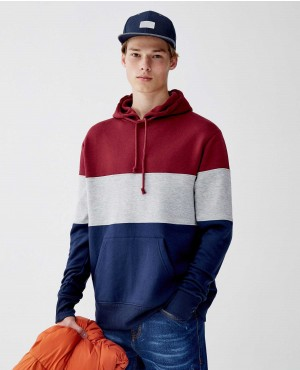 Three Paneled Hoodie Sweatshirt