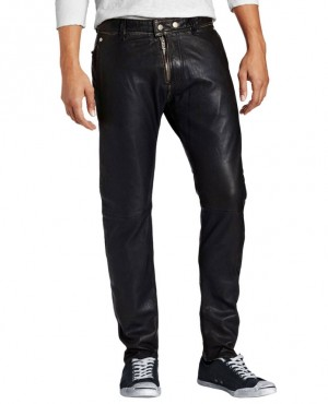 Top Sale Mens Vintage Punk Leather Pants