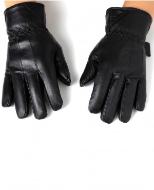 Touch Screen Gloves Leather Thermal Lined Phone Texting Gloves
