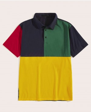 Trendy Custom Color Block Cheap Polo Shirt