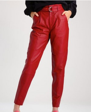Trendy Skinny Fit Leather Women Pant