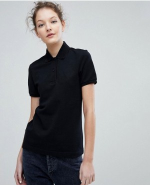 Twin Tipped Black Color Polo Shirt With Trim