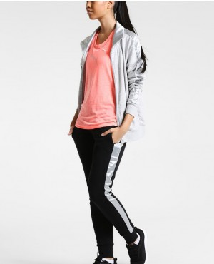 Two Piece Track Suit Women Zipper Hooded Tracksuit