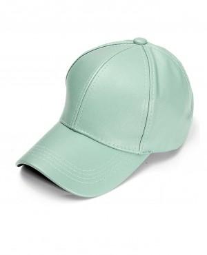 Unisex Men Women PU Leather Pure Colors Baseball Adjustable Snapback Hip Hop Cap