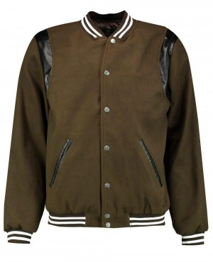Varsity Bomber With PU Inserts