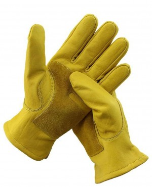Waterproof Safety Leather Welding Protective Cowhide Racing Garden Gloves