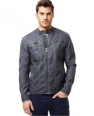 Western Style Trendy Men's Fashion Black Motorcycle Leather Jacket