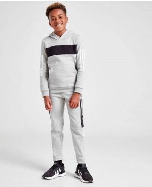 Wholesale Casual Single Grey Black Striped Long Sleeve Boys Hoodies