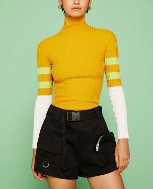 Wholesale Custom Pockets Fashion Style Summer High Waisted Plain Women Volley Short
