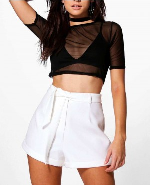 Wholesale Latest Custom Women Casual Cotton Shorts Tailored Shorts