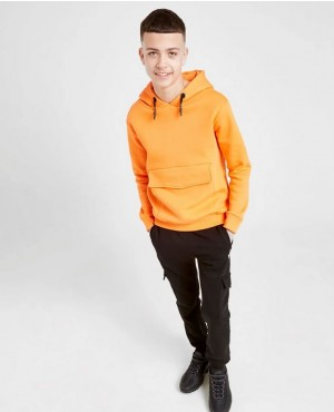 Wholesale Street Style Custom Blank Oversize Front Patched Pocket Kids Pullover Hoodie
