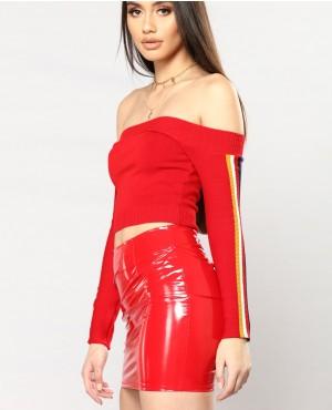 Wholesale Trendy Women Crop Top In  Red Color