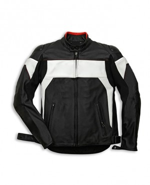 Winter Biker Motorcycle Zipper Leather Jacket