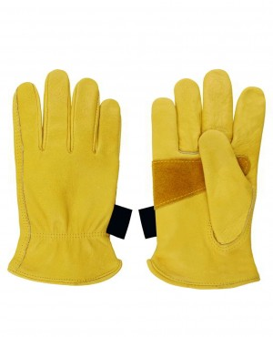 Winter Thermal Cold Work Gloves Cowhide Leather Motorcycle