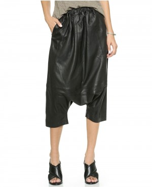 Women Baggy Leather Pant