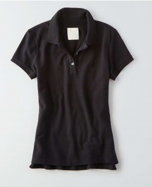 Women Basic Fitted Polo Shirt