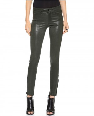 Women Black Leather Pant