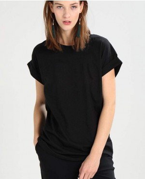Women Black Off Sleeve T Shirt
