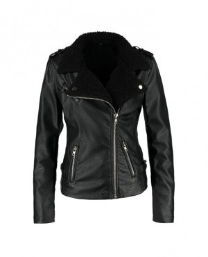 Women Black Shearling Jacket