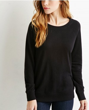 Women Black Stylish Crew Neck