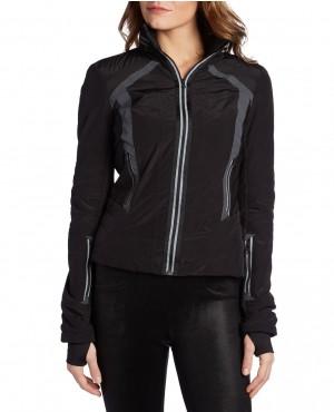 Women Black Stylish Windbreaker Jacket