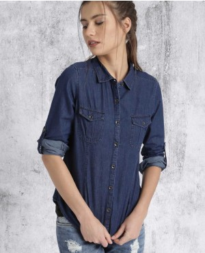 Women-Blue-Regular-Fit-Solid-Casual-Shirt-RO-3338-20-(1)