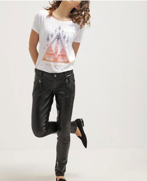 Women Causal Style Wear Leather Pant