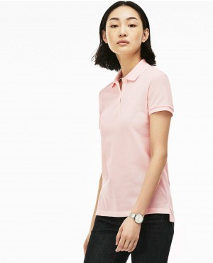 Women Classic Fit Soft Cotton Petit Pique Polo Shirt