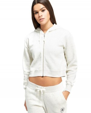 Women Crop Zipped Hoody