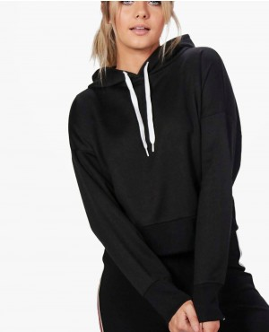 Women Cropped Hooded Sweat Crop Top