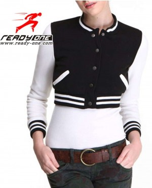 Women Cropped Varsity Jacket Brand Your Own