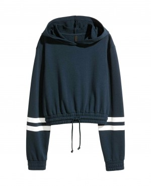 Women Custom Cropped hooded top