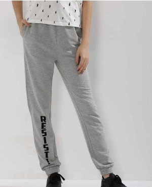 Women Custom Slogan Printed Joggers