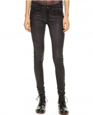 Women Fashionable Leather Pant