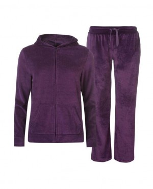Women Fashionable Velour Tracksuit