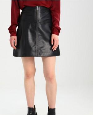 Women Front Zipper Closer Girls Thigh Length Sexy Skirt