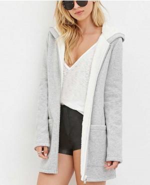 Women Fur Zipper Hoodie