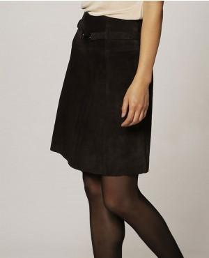 Women Genuine Leather Skirt