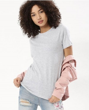 Women Grey Back Long T Shirt