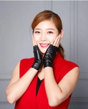 Women Half Finger Non Slip Driving Sexy Fingerless Nightclub Show Gloves
