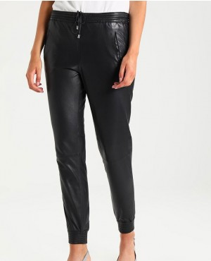 Women High Custom Leather Trouser Pant