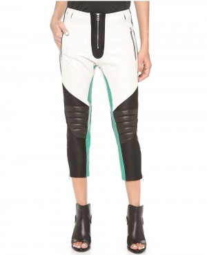 Women High Quality Padded Leather Pant