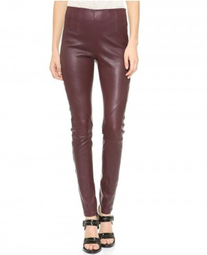 Women High Waisted Leather Pant