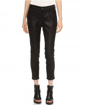 Women Jean Fashion Leather Pant