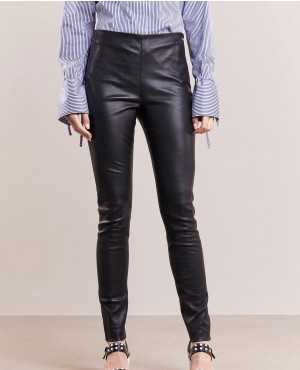 Women Leather Pant Black