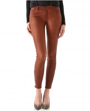 Women Leather Pant with Ankle Zippers