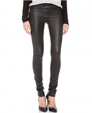 Women Leather Pant with Back Pocket
