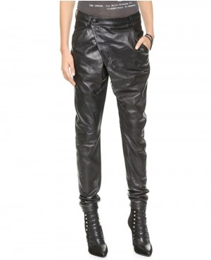Women Lose Fit Leather Pant